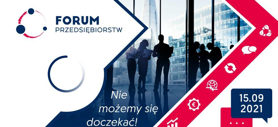 baner promujący FORUM PRZEDSIĘBIORSTW